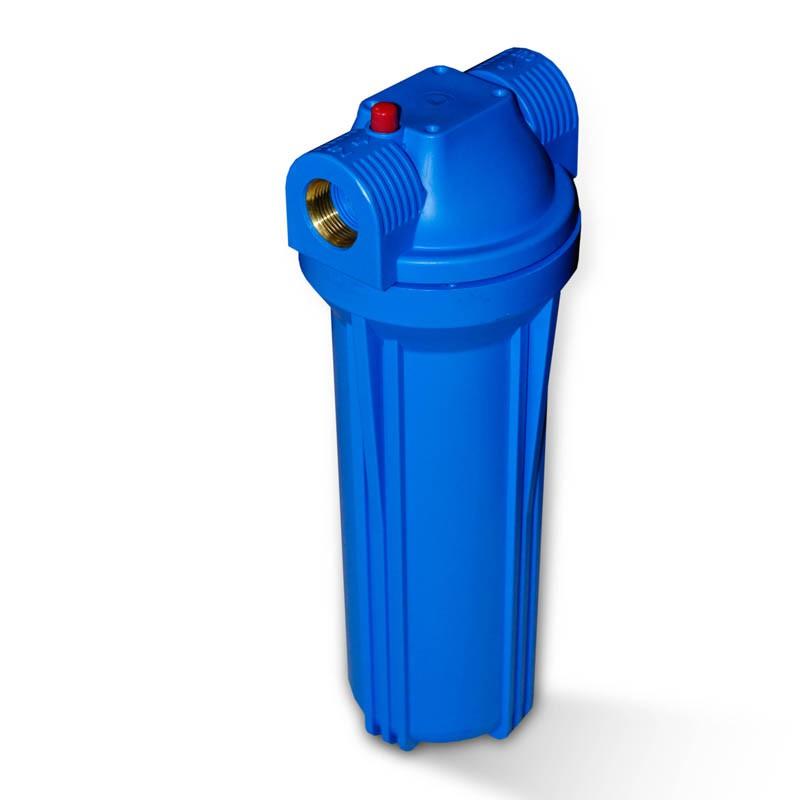 25 4cm 10 zoll wasserfilter geh use blau blau mit 3 4 ig messing wasserfilter umkehrosmose whg. Black Bedroom Furniture Sets. Home Design Ideas