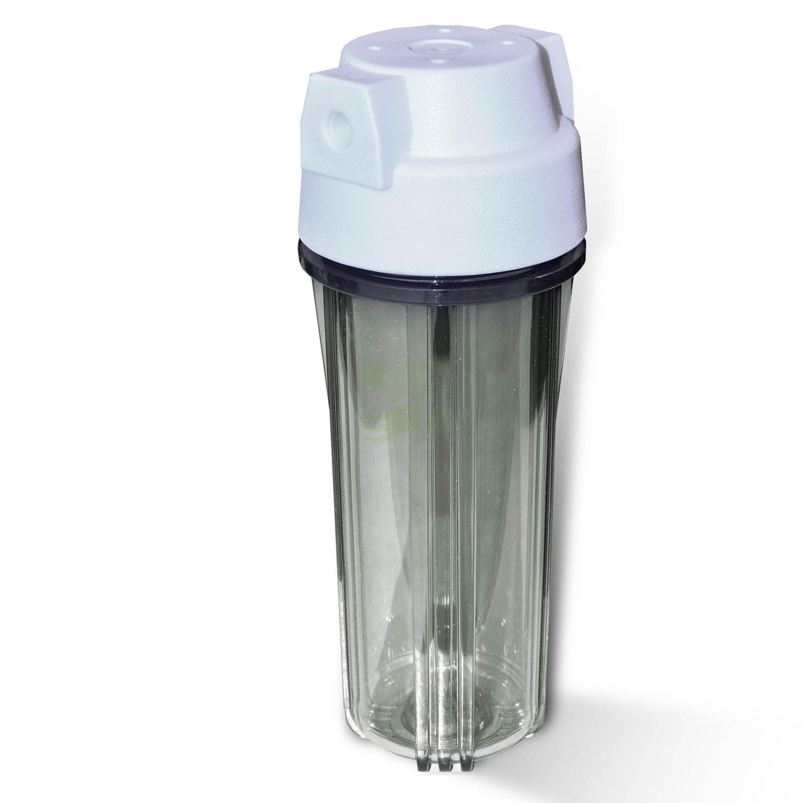 25,4cm (10 Zoll) Wasserfiltergehäuse, Umkehrosmose, weiss/klar ...