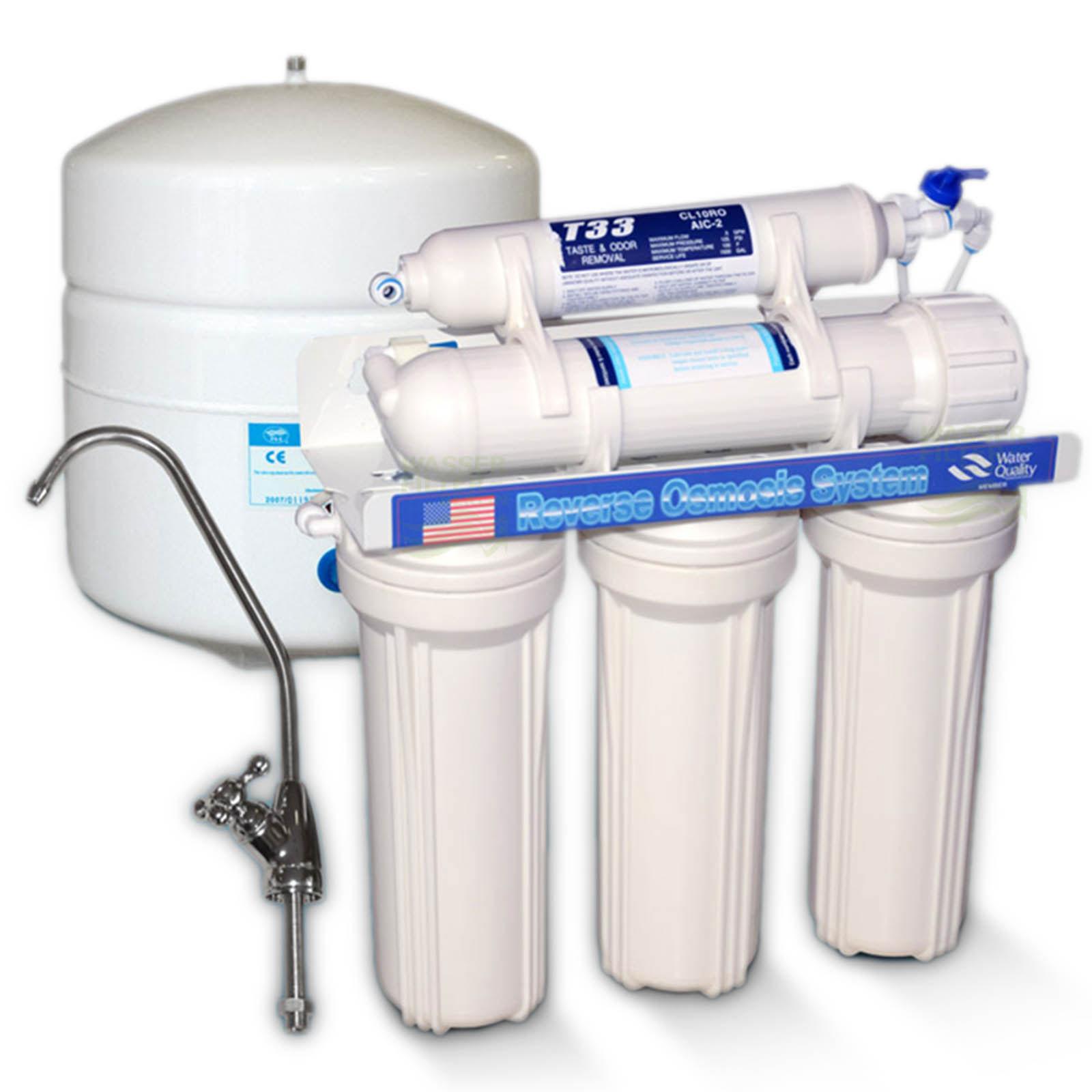 Umkehrosmose System 5-7-stufig 75 GPD Wasserfilter/Umkehrosmose WHG ...
